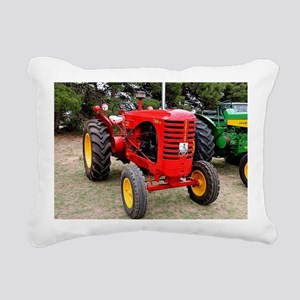 Old red tractor Rectangular Canvas Pillow