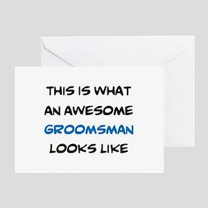 awesome groomsman Greeting Card