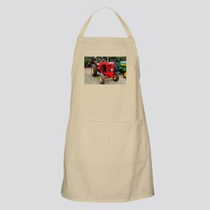 Old red tractor Apron