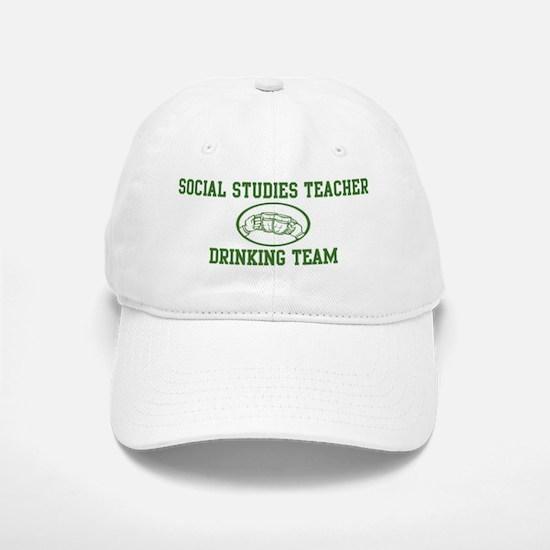 Social Studies Teacher Drinki Baseball Baseball Cap