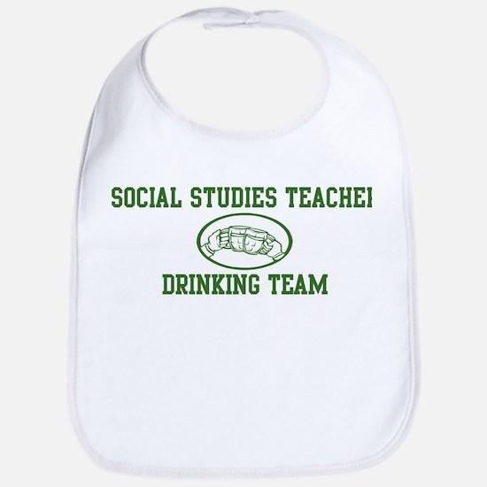 Social Studies Teacher Drinki Bib