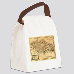 Vintage Map of Jamaica (1771) Canvas Lunch Bag
