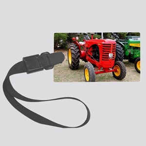 Old red tractor Large Luggage Tag