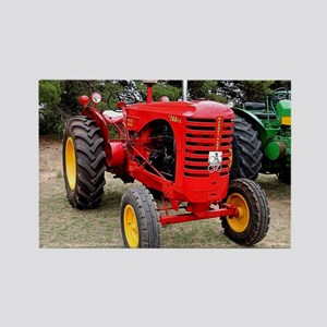 Old red tractor Magnets