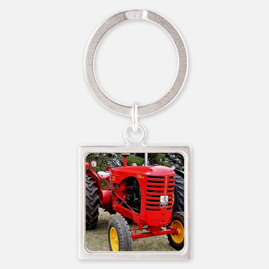 Old red tractor Keychains
