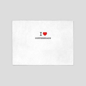 I Love COPPERHEADS 5'x7'Area Rug