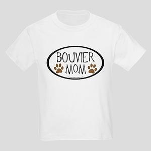 Bouvier Mom Oval Kids Light T-Shirt