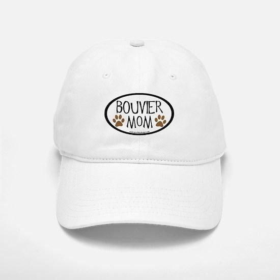 Bouvier Mom Oval Baseball Baseball Cap
