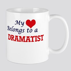 My heart belongs to a Dramatist Mugs