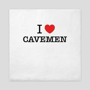I Love CAVEMEN Queen Duvet