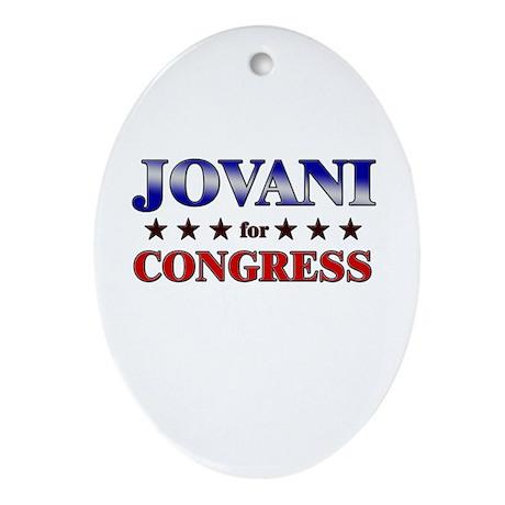 JOVANI for congress Oval Ornament