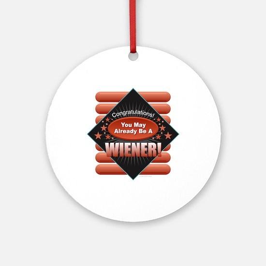 Wiener Round Ornament