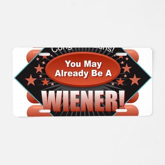 Wiener Aluminum License Plate