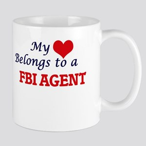 My heart belongs to a Fbi Agent Mugs