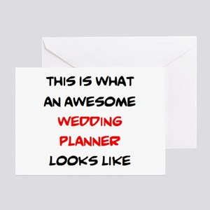 awesome wedding planner Greeting Card