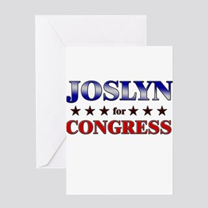 JOSLYN for congress Greeting Card