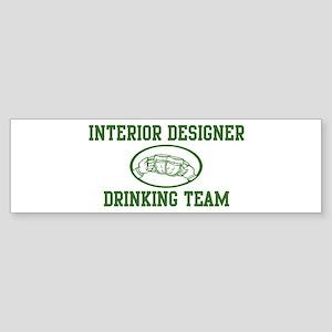 Interior Designer Drinking Te Bumper Sticker
