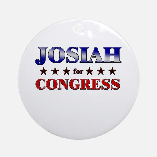 JOSIAH for congress Ornament (Round)
