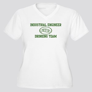 Industrial Engineer Drinking  Women's Plus Size V-