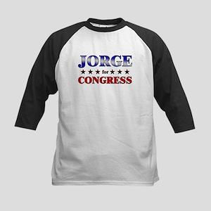 JORGE for congress Kids Baseball Jersey