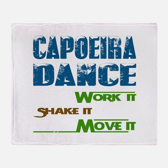 Capoeira dance, Work it,Share it, Mo Throw Blanket