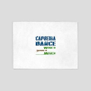 Capoeira dance, Work it,Share it, M 5'x7'Area Rug