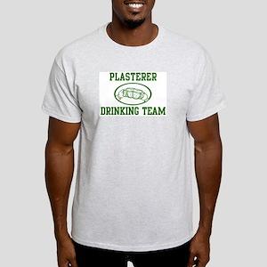 Plasterer Drinking Team Light T-Shirt