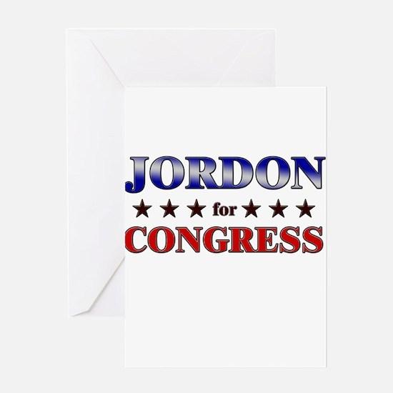 JORDON for congress Greeting Card