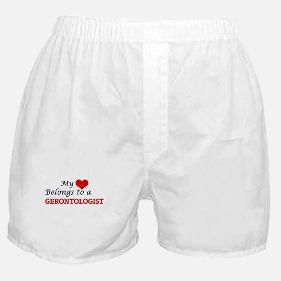 My heart belongs to a Gerontologist Boxer Shorts