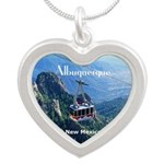 Albuquerque Silver Heart Necklace