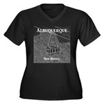 Albuquerque Women's Plus Size V-Neck Dark T-Shirt