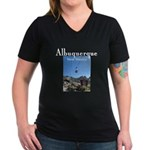 Albuquerque Women's V-Neck Dark T-Shirt