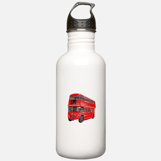 Red London Bus Water Bottle