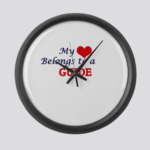 My heart belongs to a Guide Large Wall Clock