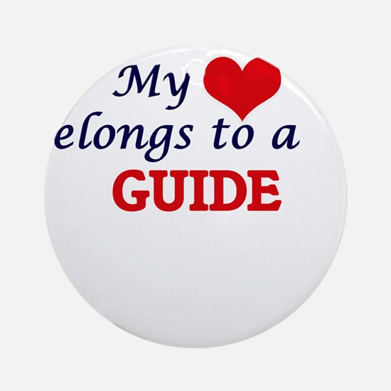 My heart belongs to a Guide Round Ornament