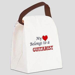 My heart belongs to a Guitarist Canvas Lunch Bag