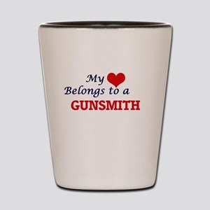 My heart belongs to a Gunsmith Shot Glass