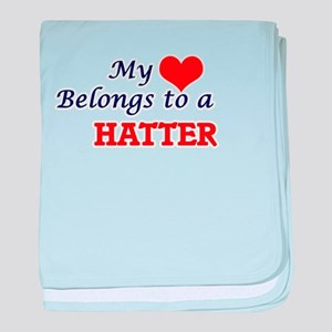 My heart belongs to a Hatter baby blanket