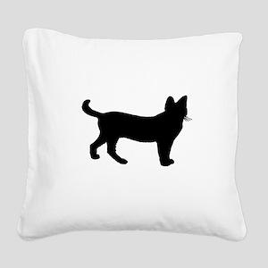 Serval Square Canvas Pillow