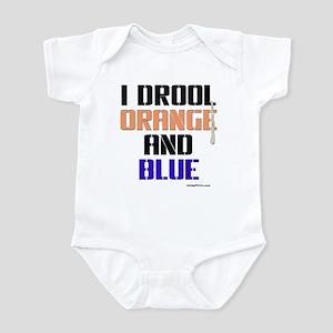 ORANGE AND BLUE (Den) Infant Bodysuit