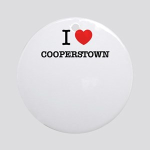 I Love COOPERSTOWN Round Ornament