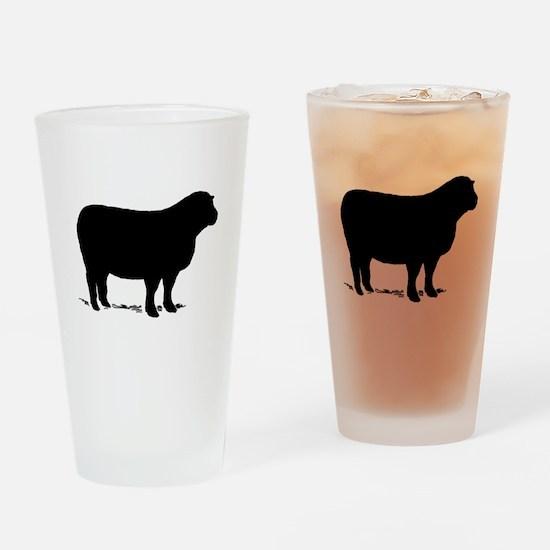 Sheep Drinking Glass