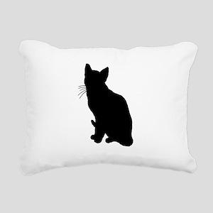 Black Cat Rectangular Canvas Pillow