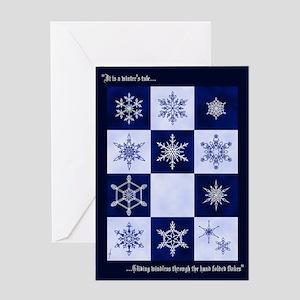 Cut-Paper Snowflake Greeting Card