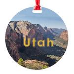 Utah Round Ornament