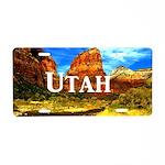 Utah Aluminum License Plate