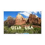 Utah Rectangle Car Magnet