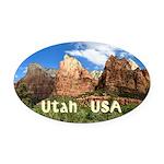 Utah Oval Car Magnet