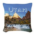 Utah Woven Throw Pillow