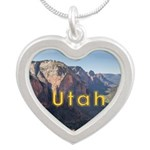 Utah Silver Heart Necklace